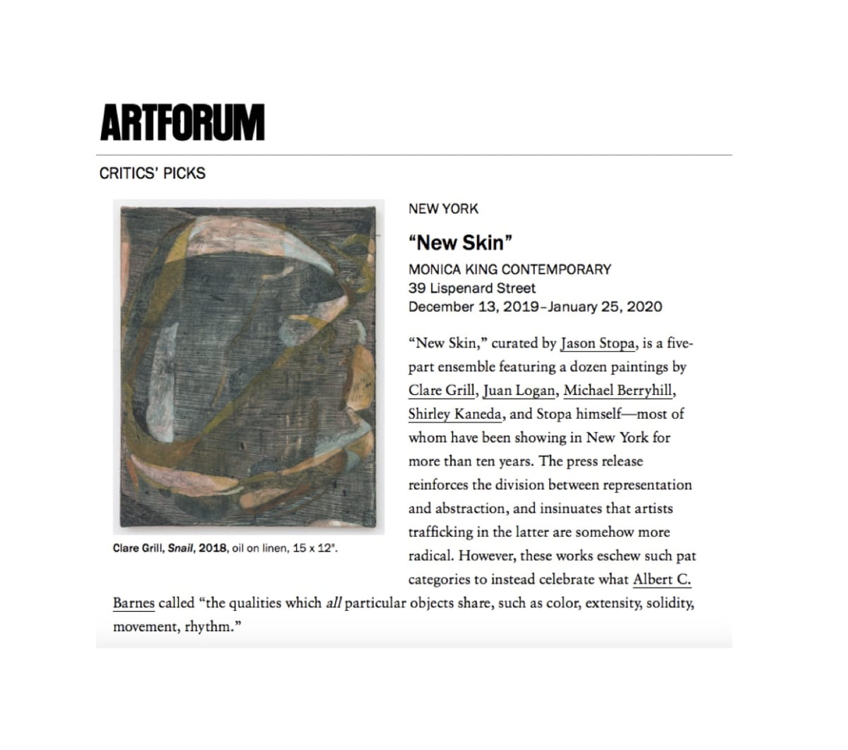 ARTFORUM Critics' Picks