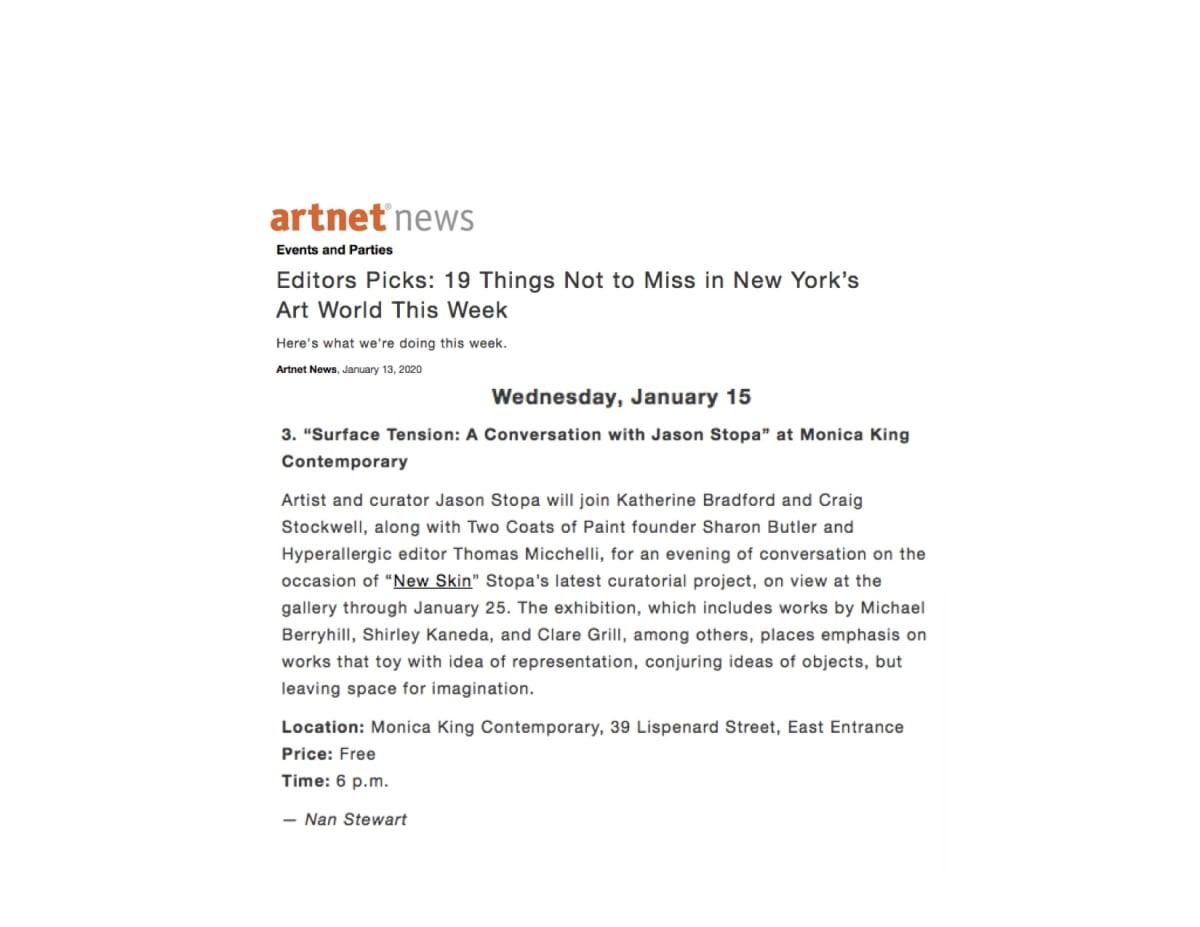 Artnet news Editors Picks: 19 Things Not to Miss in New York's Art World This Week