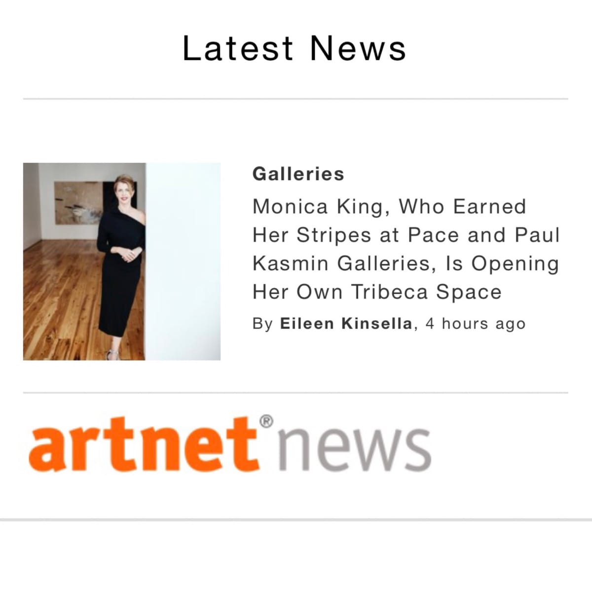 Monica King, Who Earned Her Stripes at Pace and Paul Kasmin Galleries, Is Opening Her Own Tribeca Space