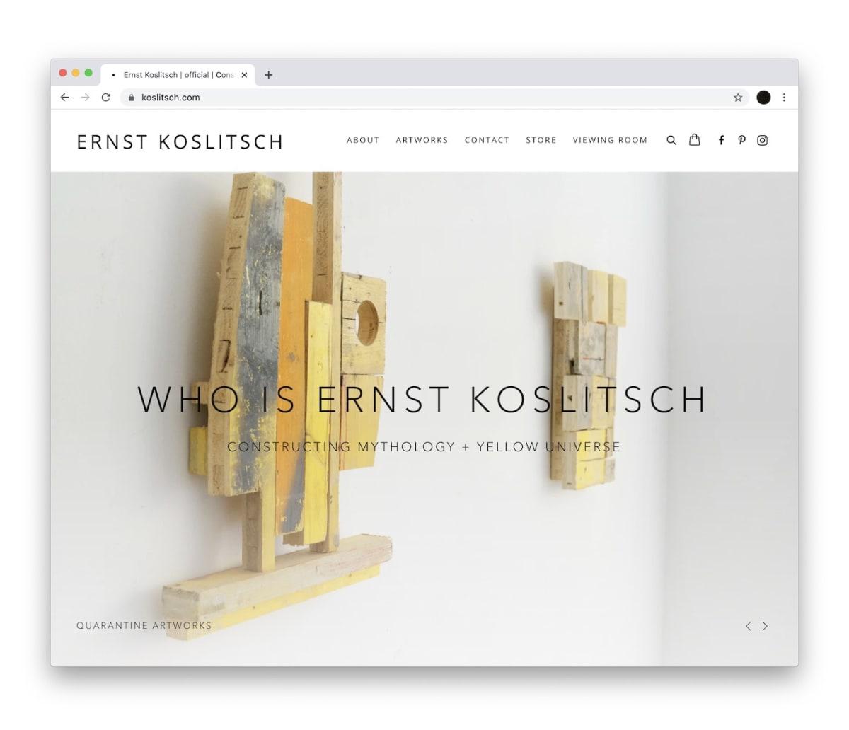 Ernst Koslitsch  new Website