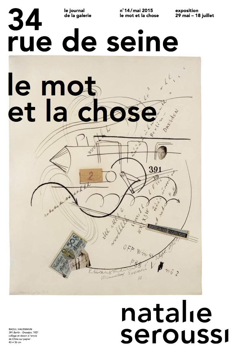 34 rue de Seine n°14 - Le mot et la chose