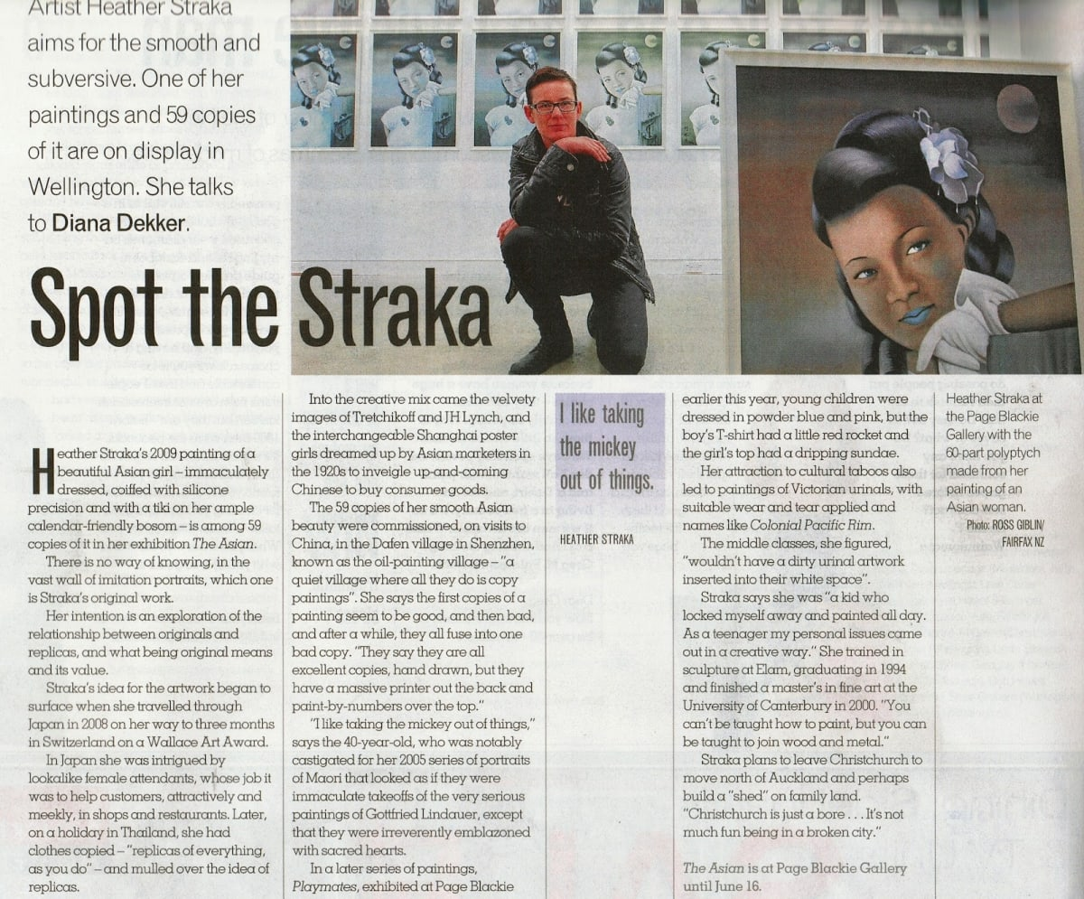Dominion Post Article on The Asian By Heather Straka