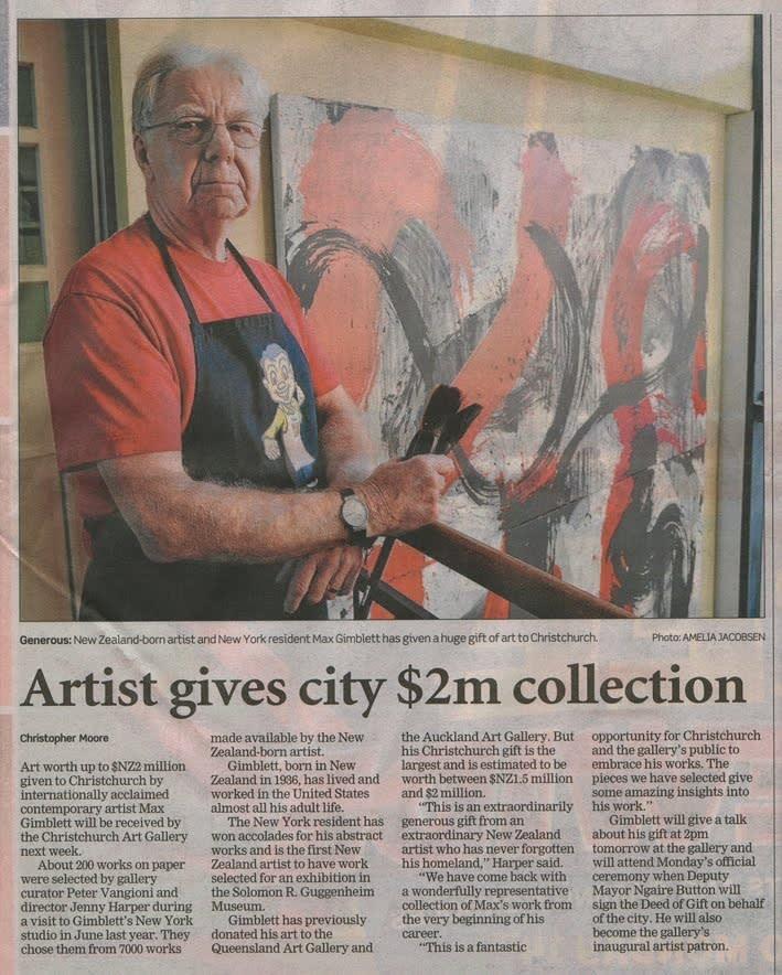 Max Gimblett's Gift to the Christchurch Art Gallery