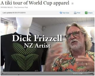 Dick Frizzell's Rugby World Cup Apparel
