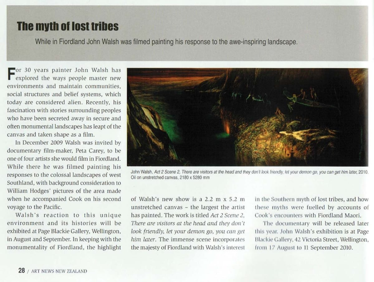 John Walsh Features in Art News