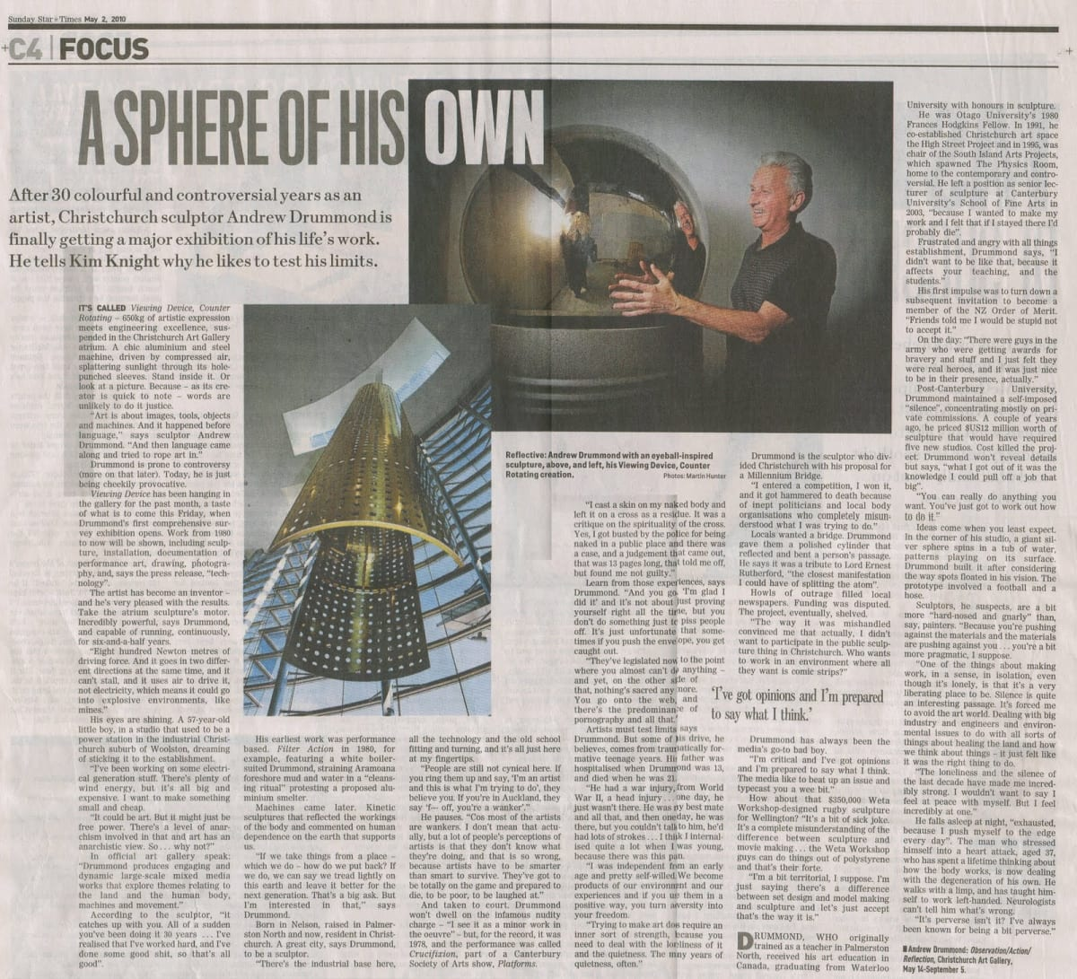 Andrew Drummond in the Sunday Star Times