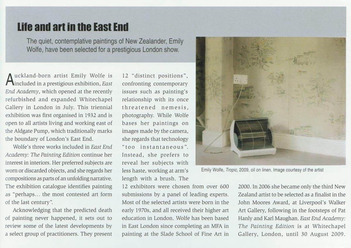 Emily Wolfe in Art News