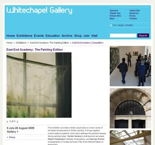 Emily Wolfe opens at Whitechapel Gallery, London