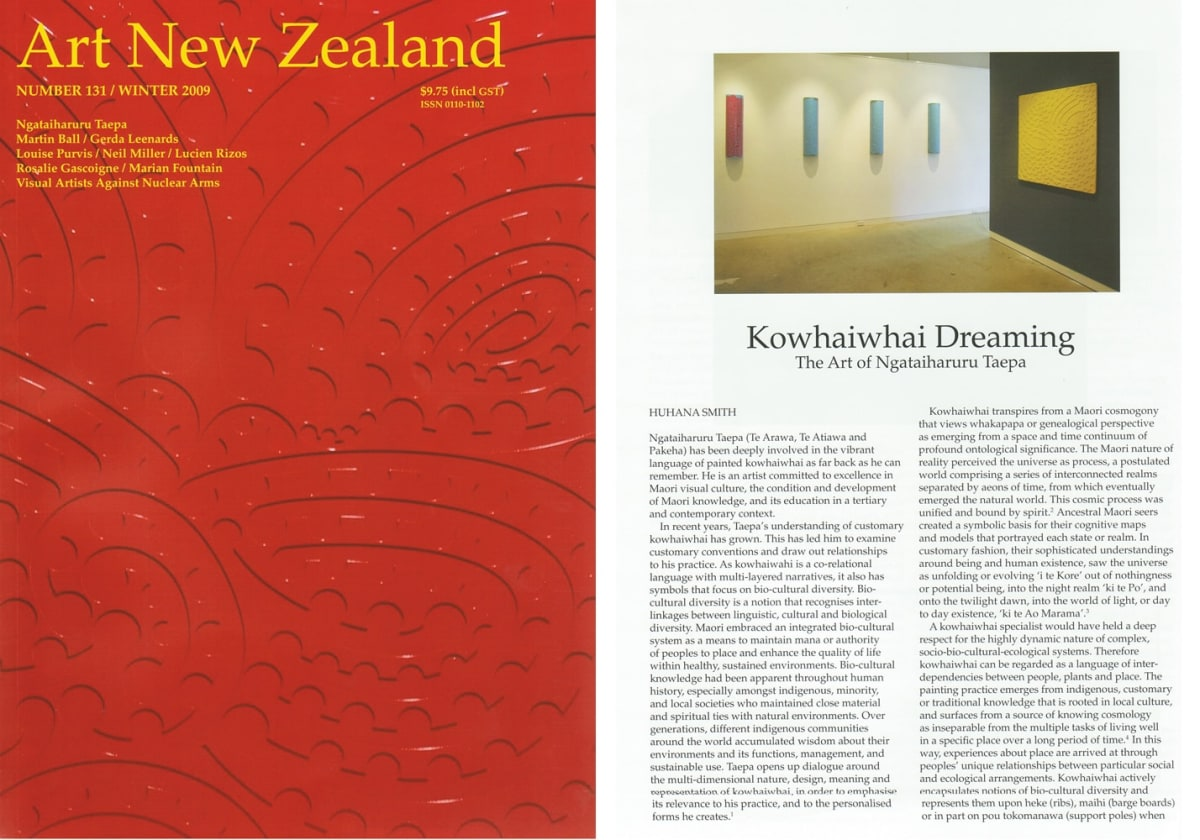 Ngatai Taepa in Latest Art New Zealand