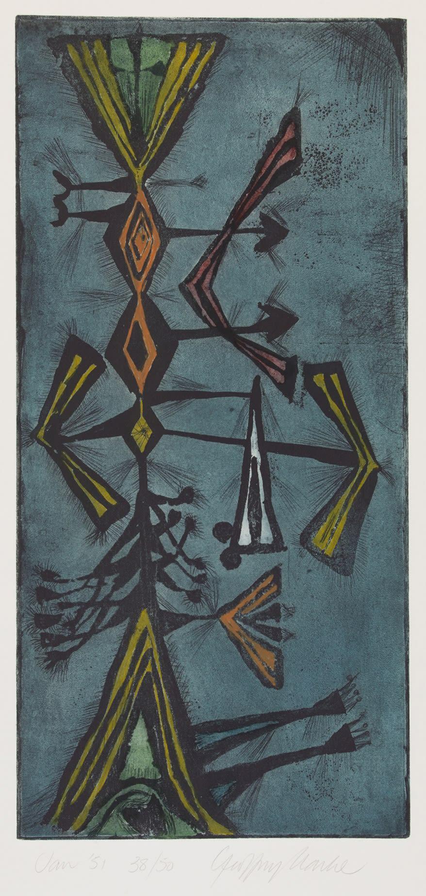 Geoffrey Clarke, Blue Head (114), 1951