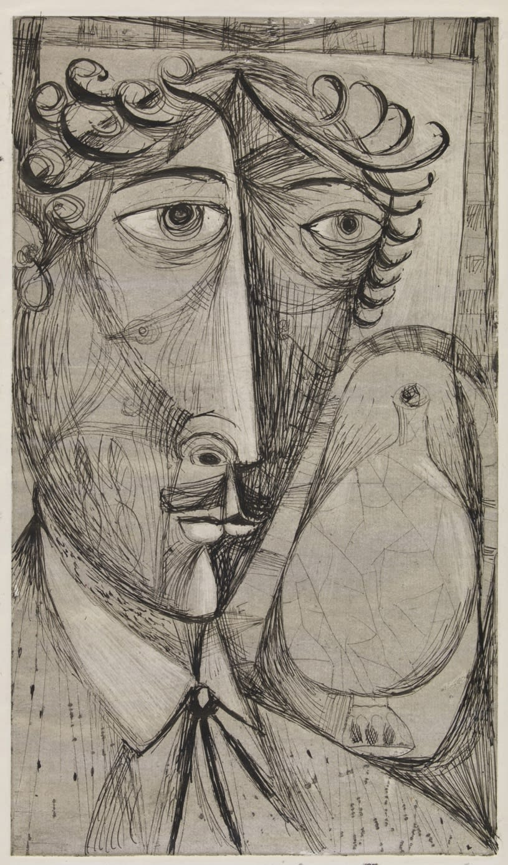 Geoffrey Clarke, Self Portrait (27), 1949
