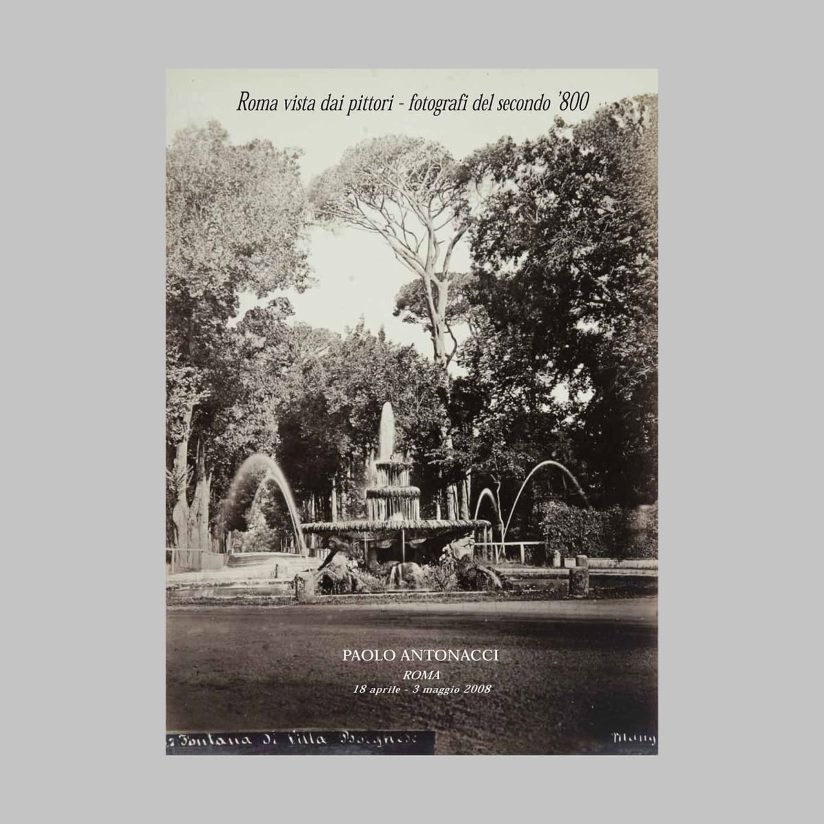 Rome seen by painters - photographers of the late 19th century