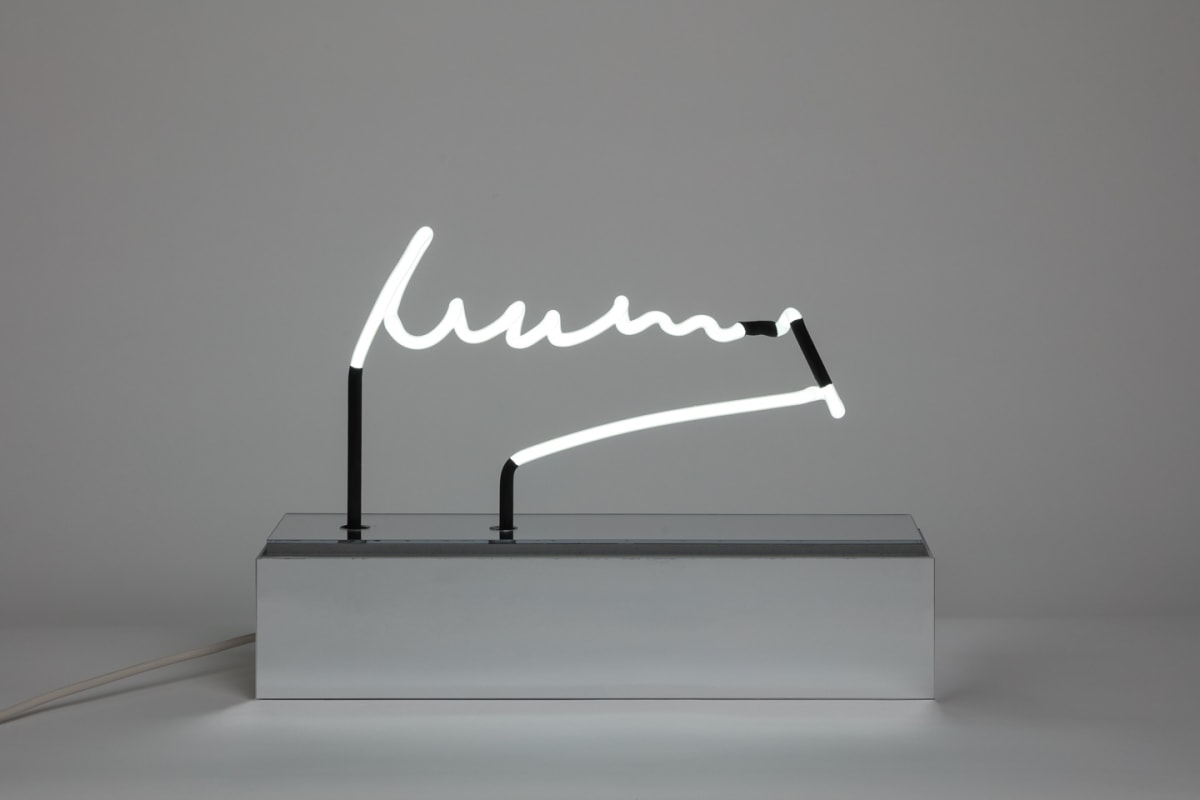 Peter Saville Mum and Dad, 2012 Neon. Unique 48.83 x 42.53 x 12.65 cm