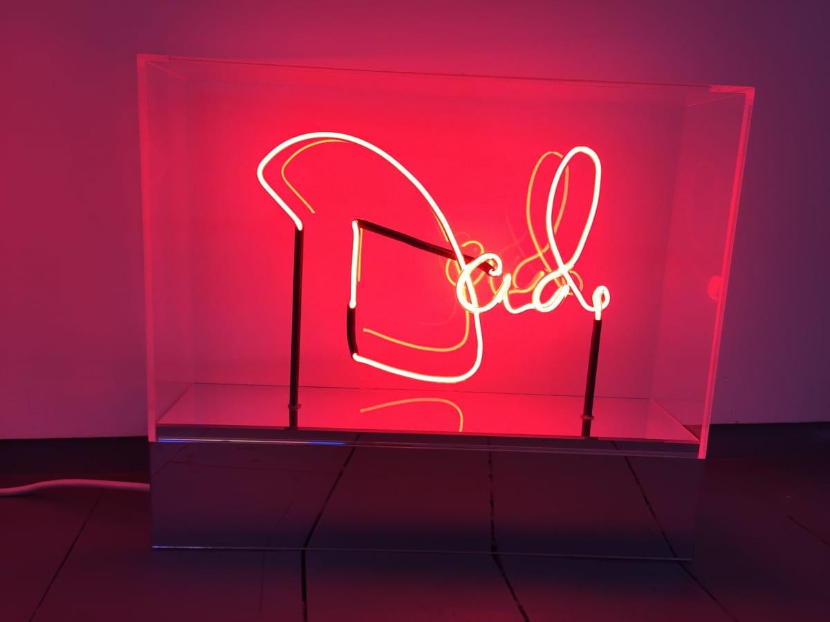 Peter Saville Mum and Dad, 2018 Neon. Unique 48.83 x 42.53 x 12.65 cm