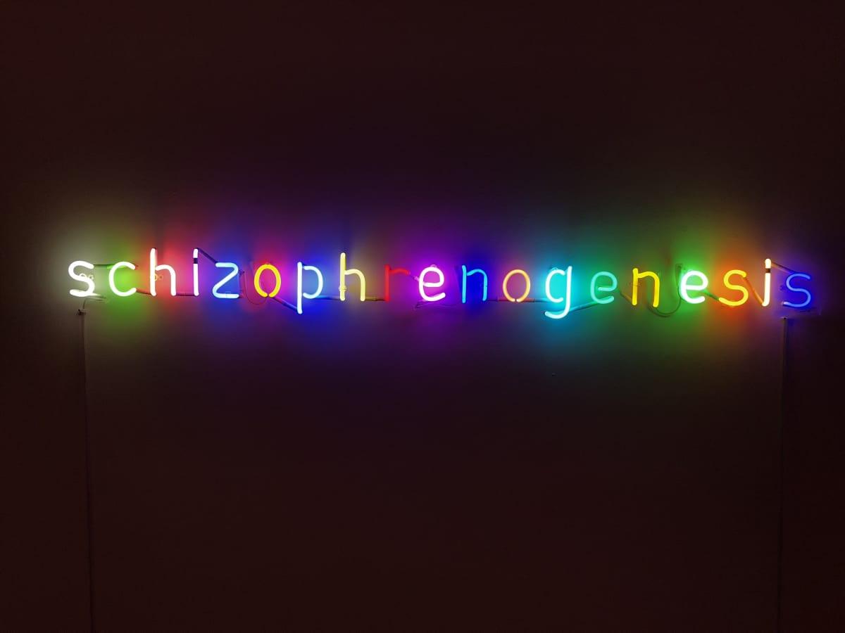 Damien Hirst Schizophrenogenesis Neon. 2014. Edition of 12. OC10018 / DHS18320 L 172 x W 15 x D 30 cm Edition of 12