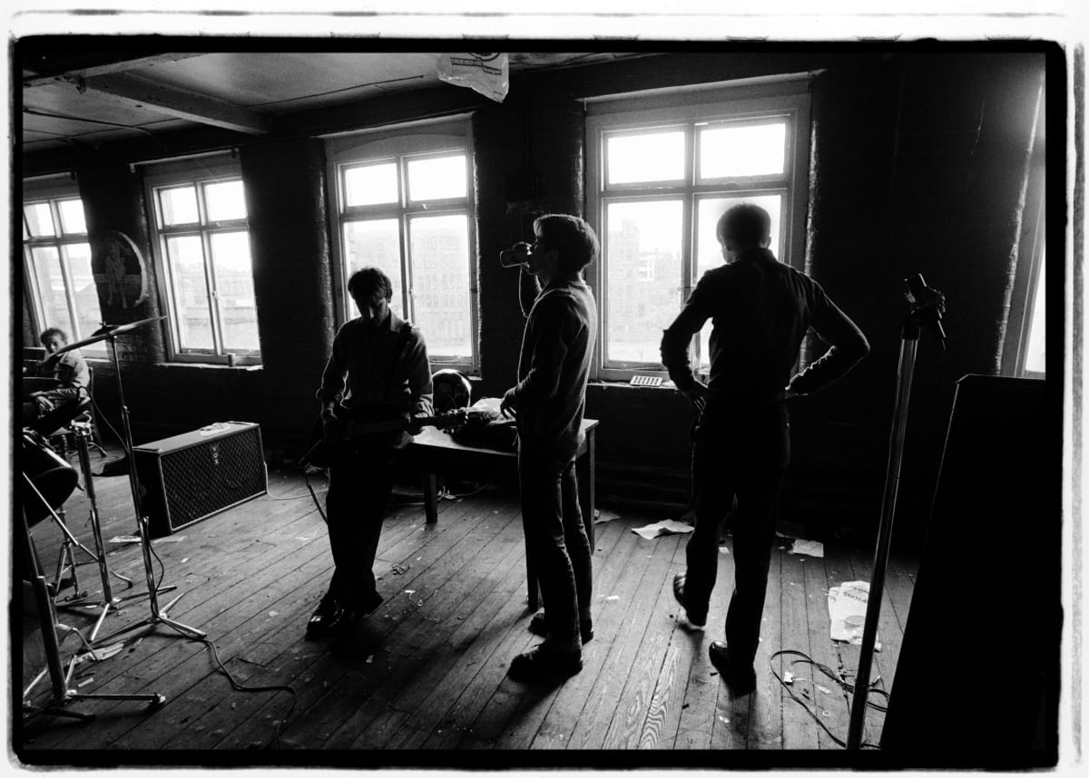 Kevin Cummins 3.Joy Division, TJ Davidson's rehearsal room, Little Peter Street, Manchester 19 August 1979, 2006 Gelatin-silver print. Edition of 75 40.6 x 50.8 cm 16 x 20 in Edition of 75