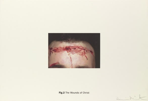DAMIEN HIRST Fig. 2 The Wounds of Christ New Religion - The Wounds of Christ Silkscreen print on Somerset satin 410gsm Edition of 55 Signed and numbered Sheet: 100 x 66.7 cm 2005 Available only as part of the portfolio