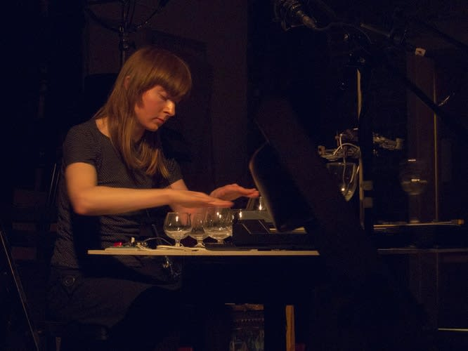 THE SILENCE BETWEEN Dawn Scarfe 'Tuning to Spheres' Solo performance with musical glasses, sine tone generator and turntables