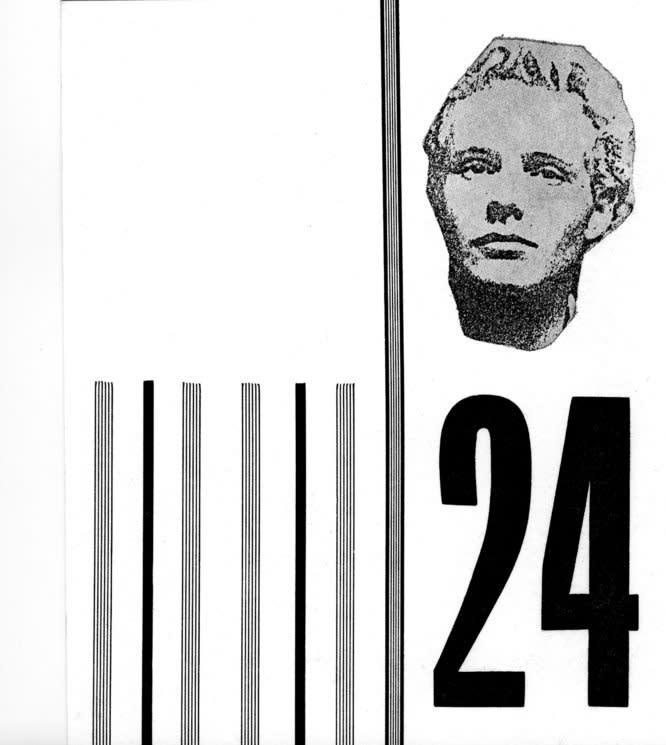 FACTUAL NONSENSE Joshua Compston's 24th Birthday Invitation 16 x 14.2 cm 1994