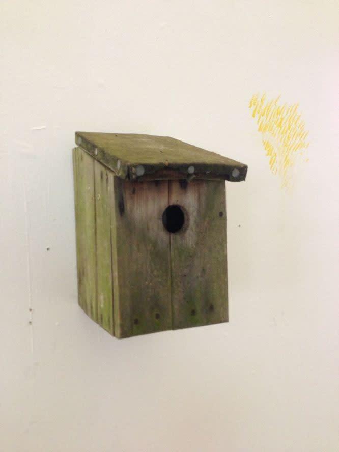FACTUAL NONSENSE Tim Noble Abusive Crow (Birth, Work, Fuck, Death) Bird box, iPod audio loop, speaker. Edition of 2 28 x 16 x 25 cm 1995 - 2013