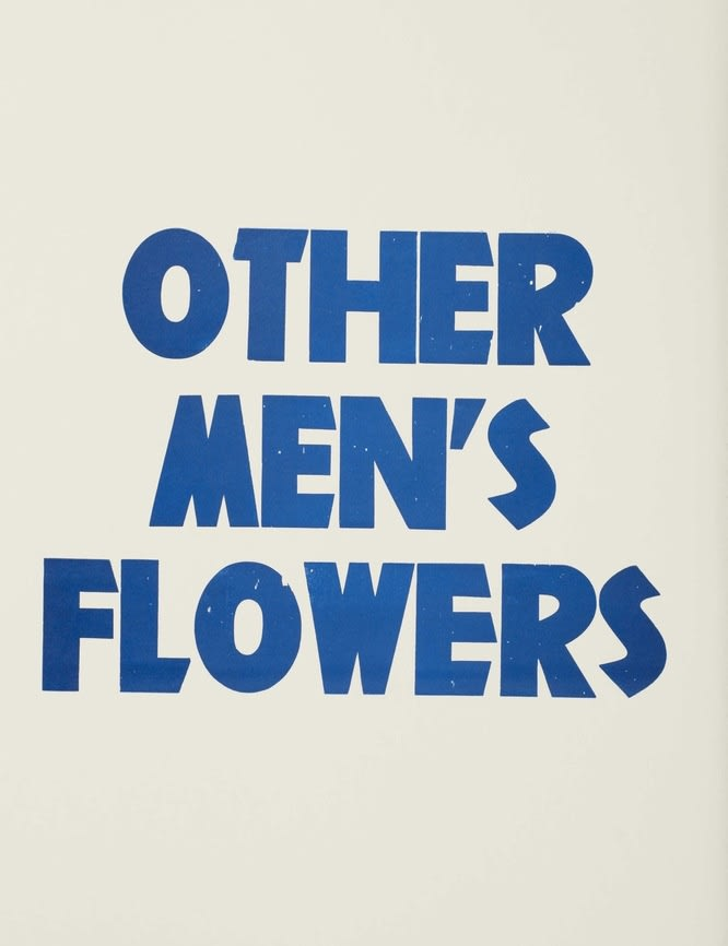 FACTUAL NONSENSE Title Page Other Men's Flowers - 'Book Edition' 1994 Screenprints and printed letterpress. Portfolio edition of 100 + 20 APs. Colophon page signed by all the artists and numbered. Published by Paragon Press, London
