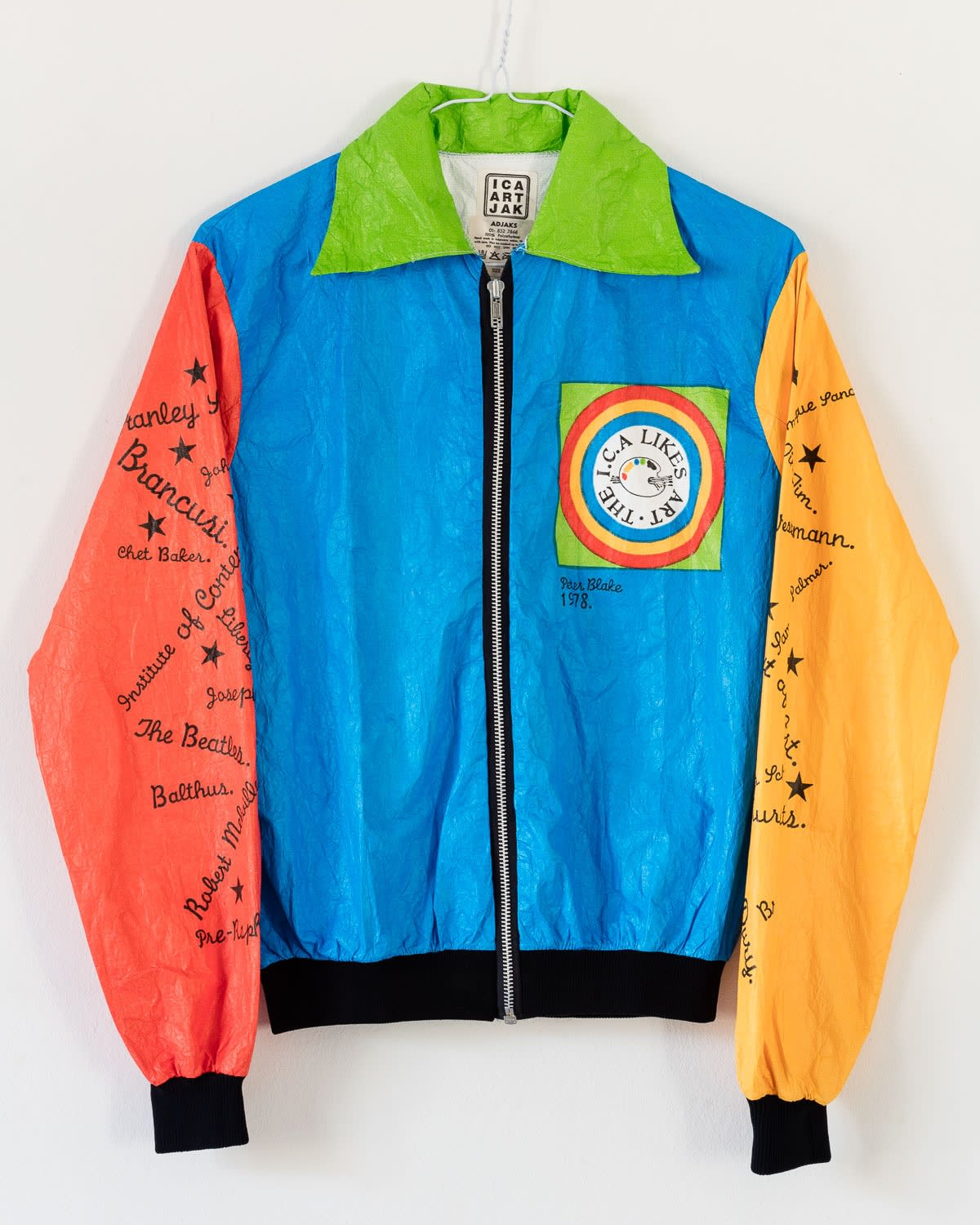 Peter Blake ICA Art Jak, 1978 Polythene bomber jacket Edition of 400