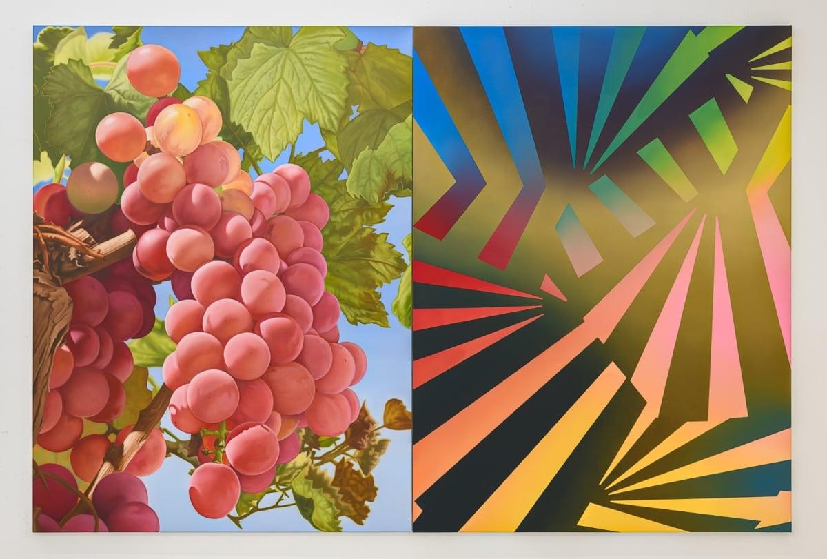 Mustafa Hulusi Cyprus Realism (Grape 5) M 2019 Oil on canvas 408 x 306 cm, 2 parts, each 204 x 153 cm
