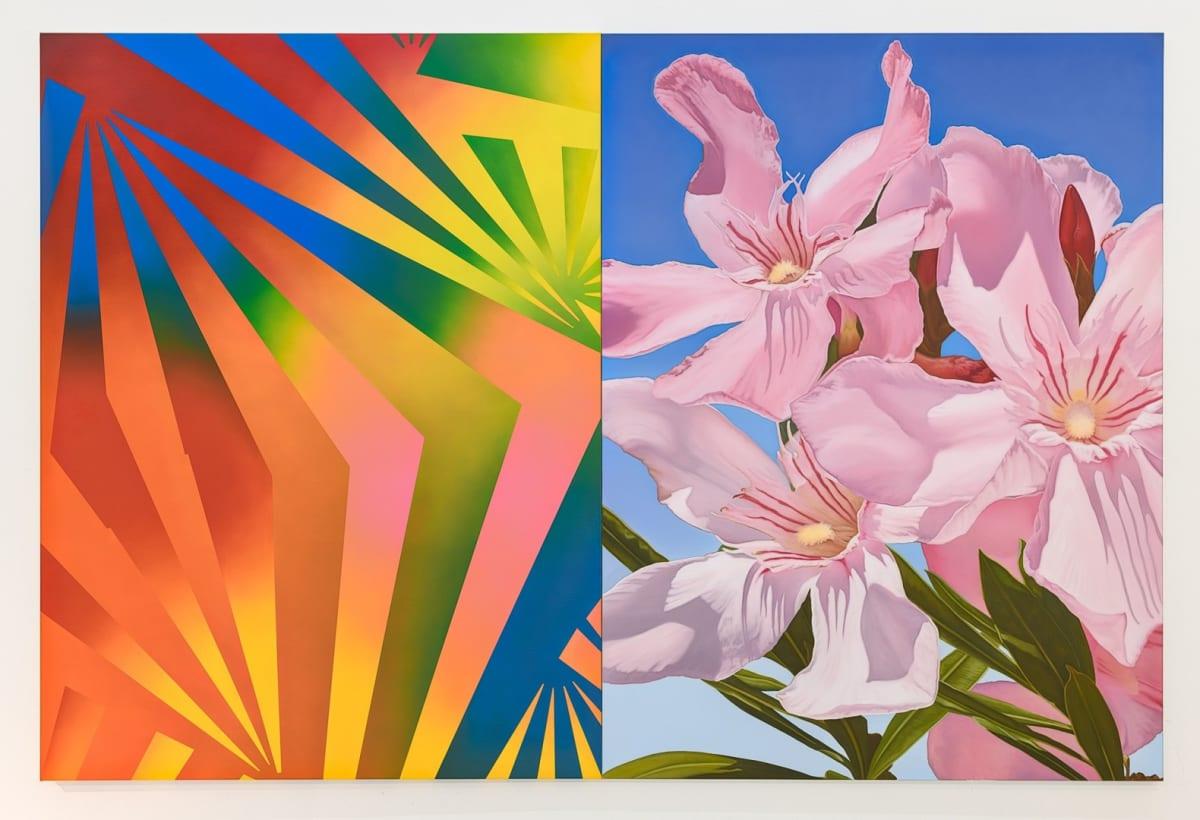Cyprus Realism (Oleander 1) M 2019 Oil on canvas 2 parts, each part 204 x 153 cm