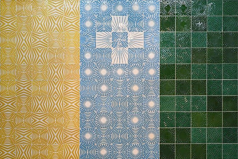 Mustafa Hulusi Ambient (5) 2013-2019 Ceramic tiles on wediboard mounted on aluminium frame 300 x 450 cm Unique piece