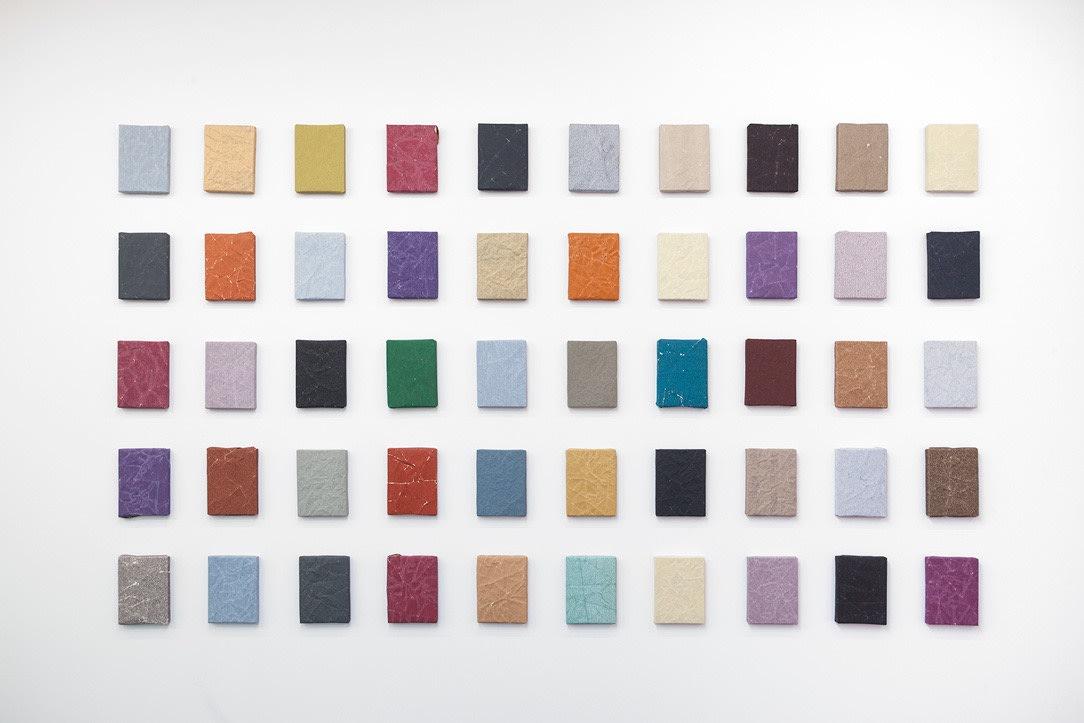 Untitled, 2018, Sandpaper on wooden panel, 20.5 x 15.5 cm / each