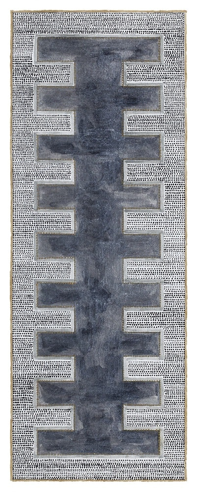 Comb, 2018, ink on paper, 38,3 x 14,5 cm