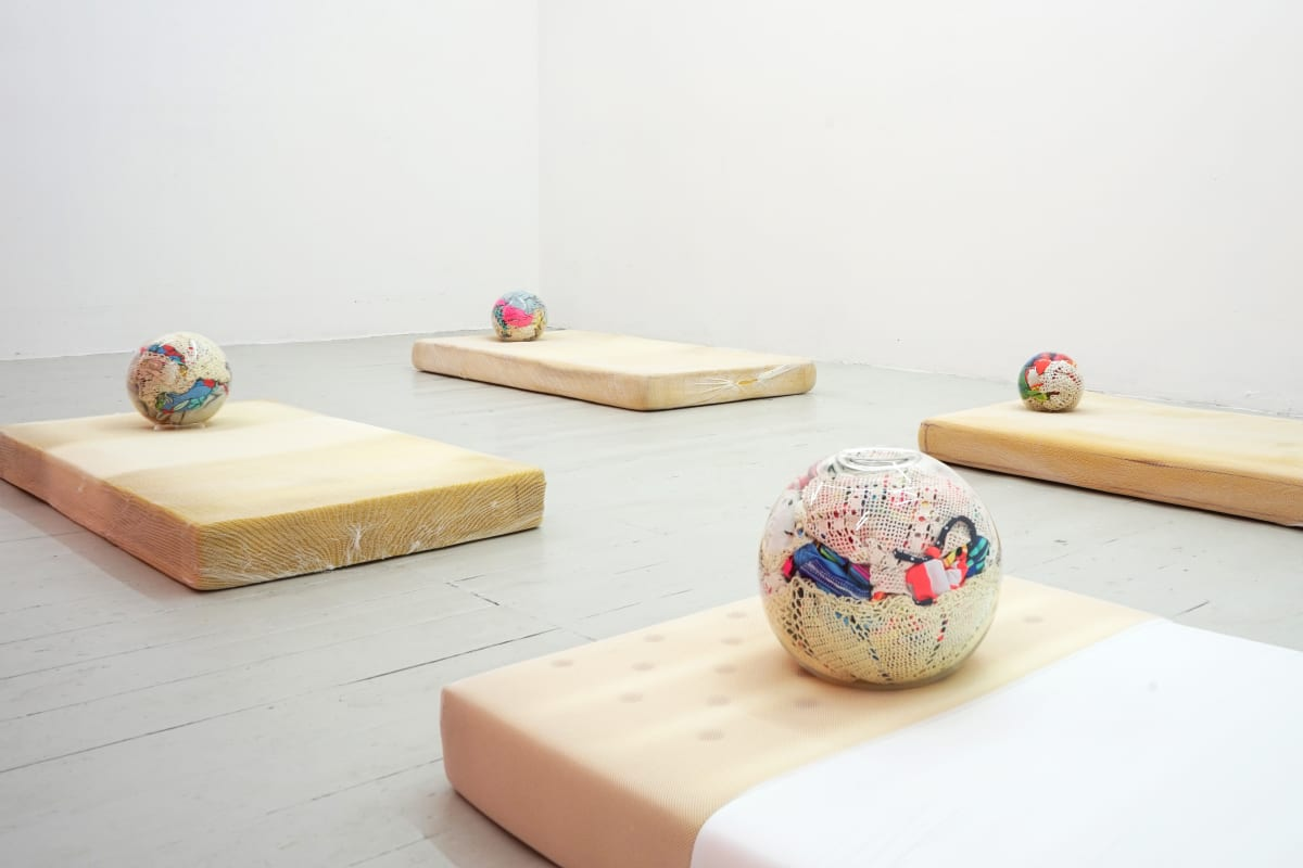 Ana Cvorovic Hot Mellow Marsh 2019 child mattresses, glass light globes - child swimsuits-crochet dollies-bdding-fishing floats dimensions variable
