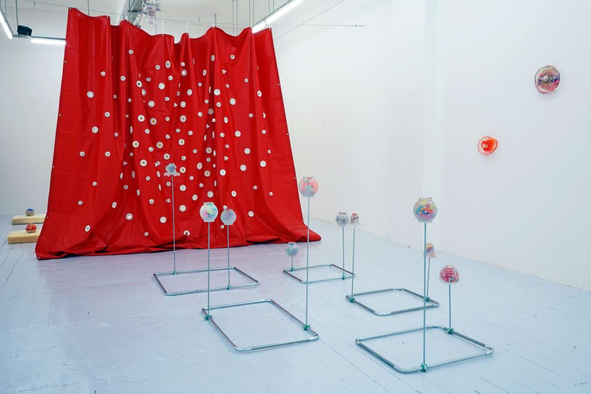 Ana Cvorovic Mother's dress 2019 PVC tarpaulin-plaster 400x450x10 cm