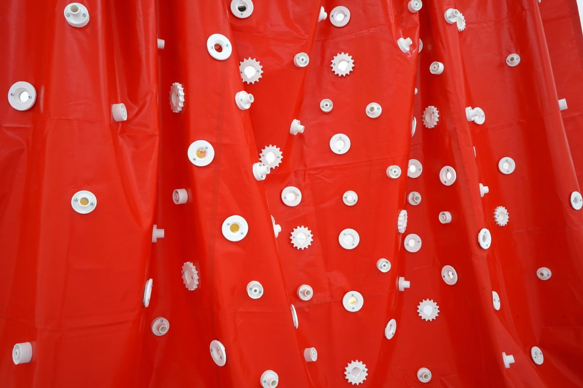 Ana Cvorovic Mother's dress 2019 PVC tarpaulin-plaster 400x450x10 cm detail