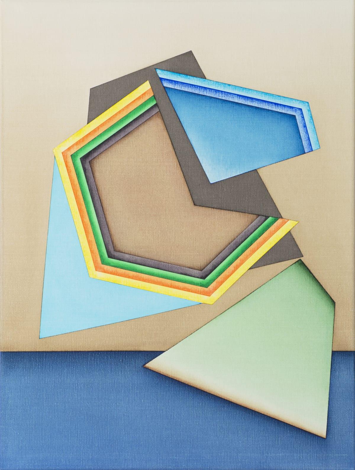 Selma Parlour, Smack Dab II, 2019, oil on linen, 41 x 30.5 cm