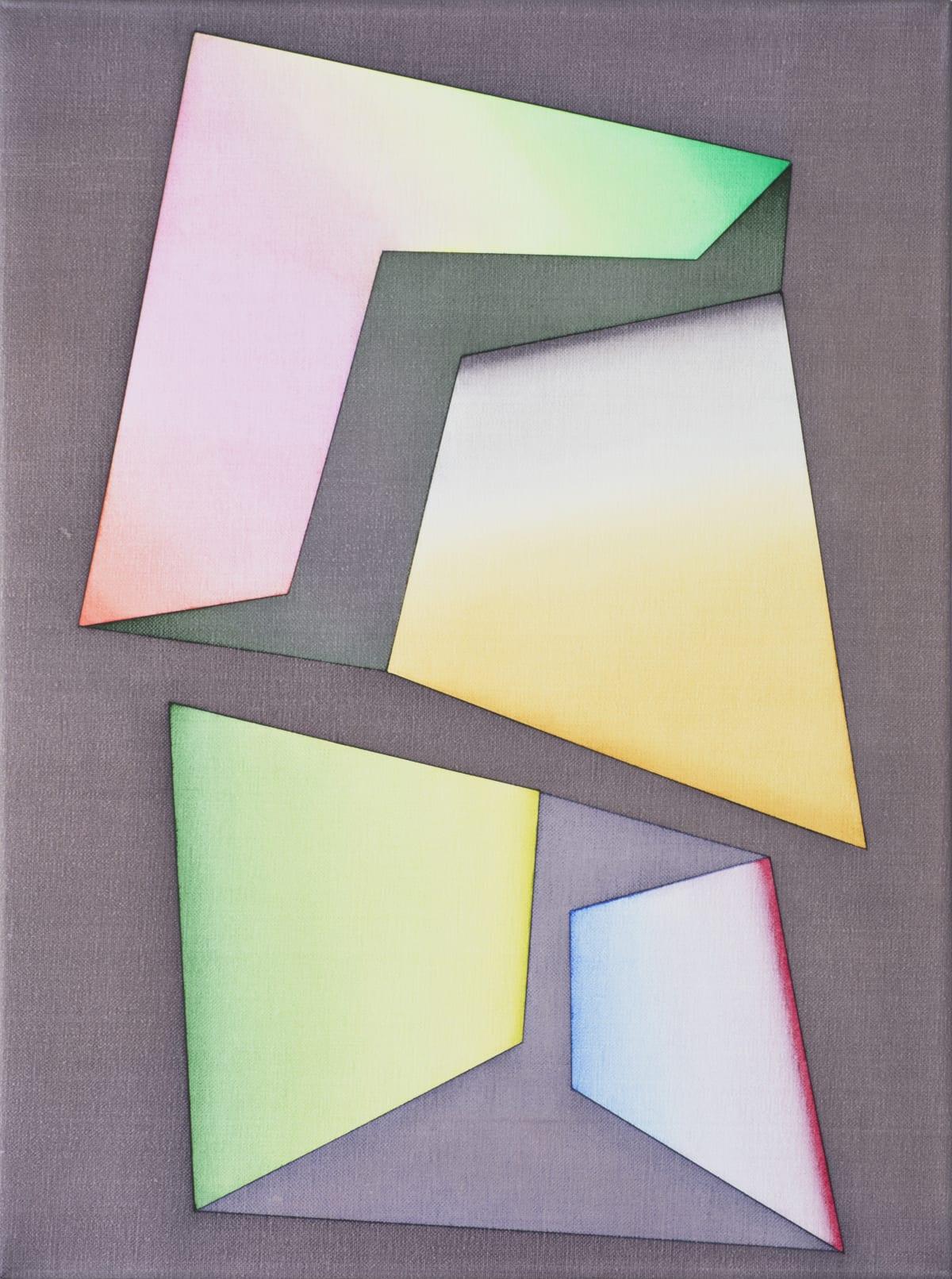 Selma Parlour, Smack Dab III, 2019, oil on linen, 41 x 30.5 cm