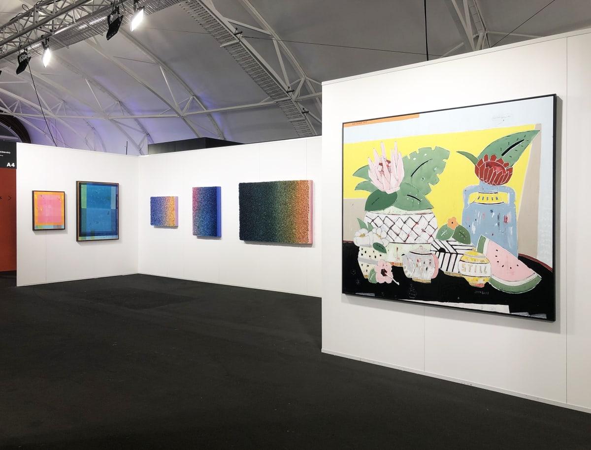 Install: PIERMARQ* booth A4 at Auckland Art Fair 2019