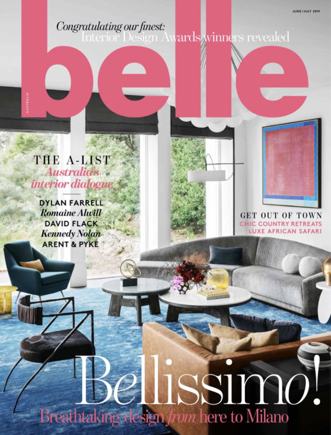 Maximilian Daniels on Belle Australia Cover