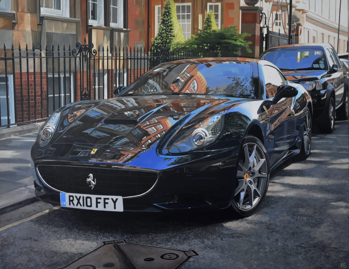 """Moscow Road/Ferrari California"" Acrylic on Canvas 114 x 146 cm"