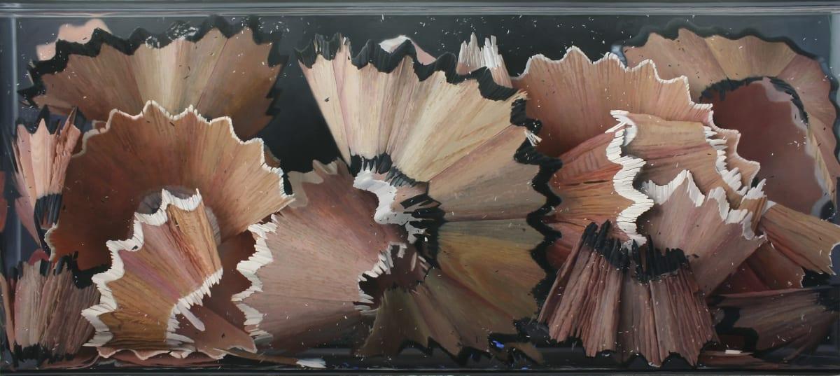 Black and White Shavings Oil on board 85 x 190 cm