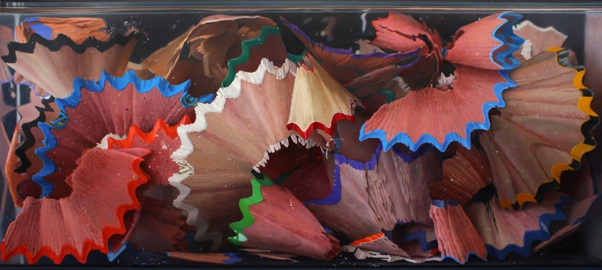 Colour Shavings Oil on board 85 x 190 cm