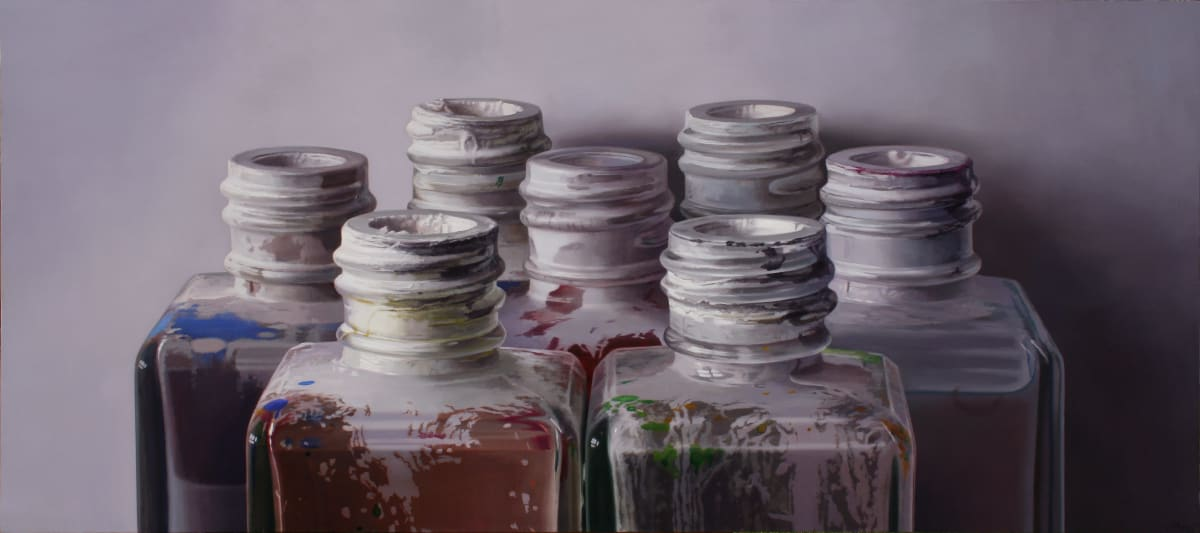 Colours IX Oil on board 85 x 190 cm