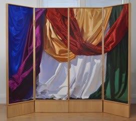 Folding Screens, 8 panels, 166 x 54 cm each leaf, oil on board, 2015