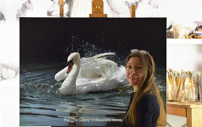 Web Beauty The Mute Swan 90X120Cm Oil On Canvas Alexandra Klimas Atelier