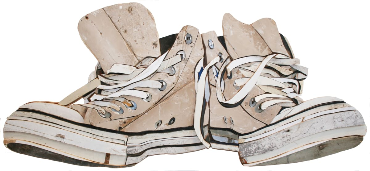 All Stars Original White Colored salvaged wood 62 x 141 x 3.5 cm