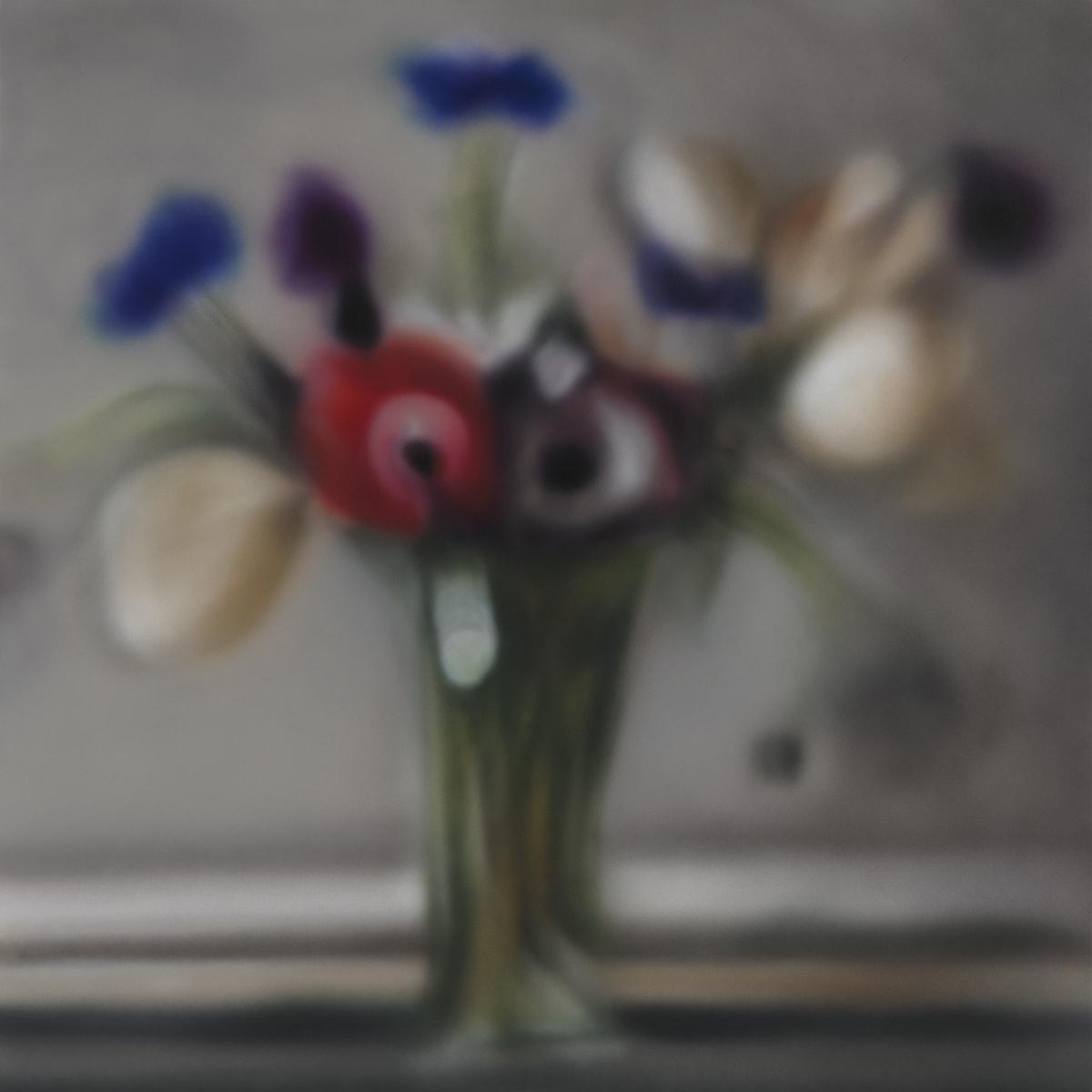 Anemones Blurry Acrylic on polyester 99 x 99 cm