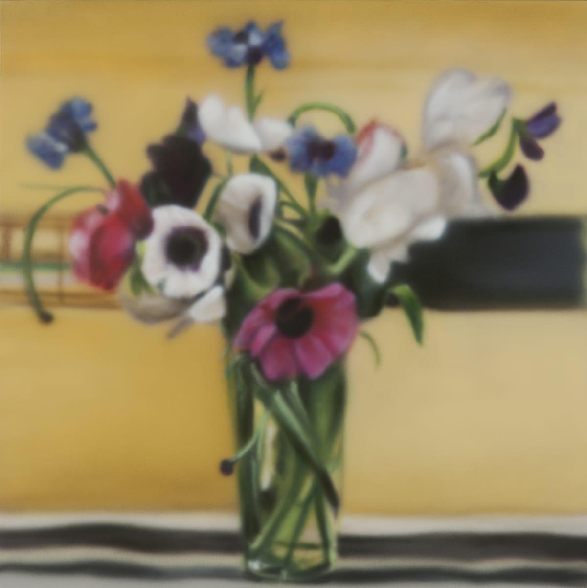 Bouquet on Yellow Acrylic on panel 40 x 40 cm