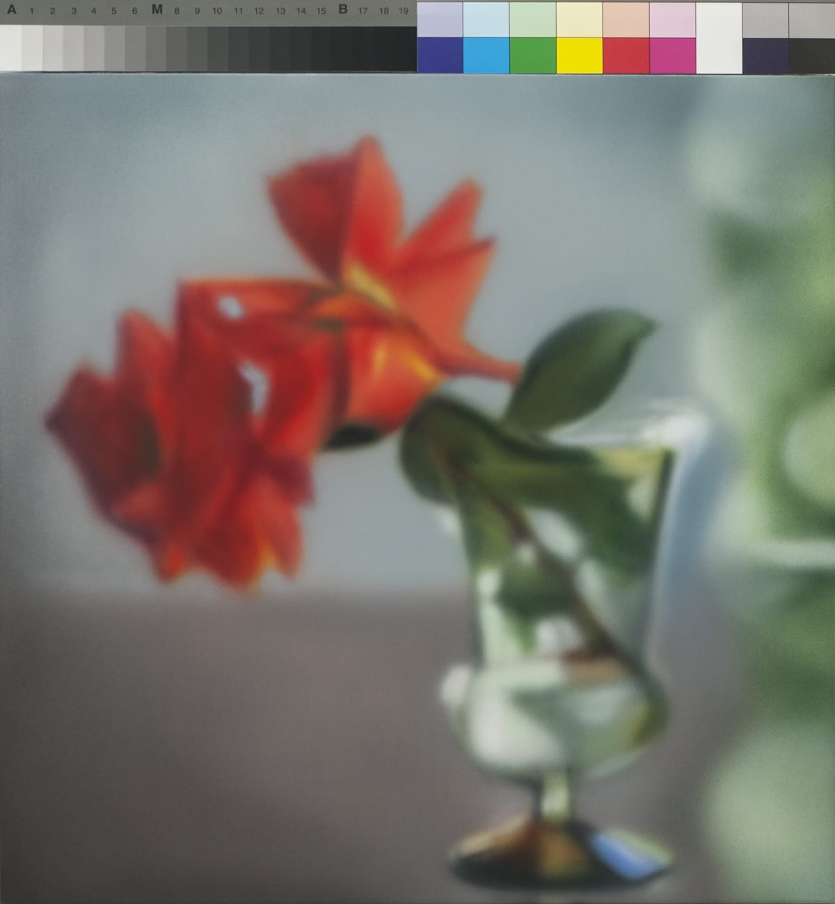 Off Center Roses Acrylic on panel 40.5 x 40.5 cm