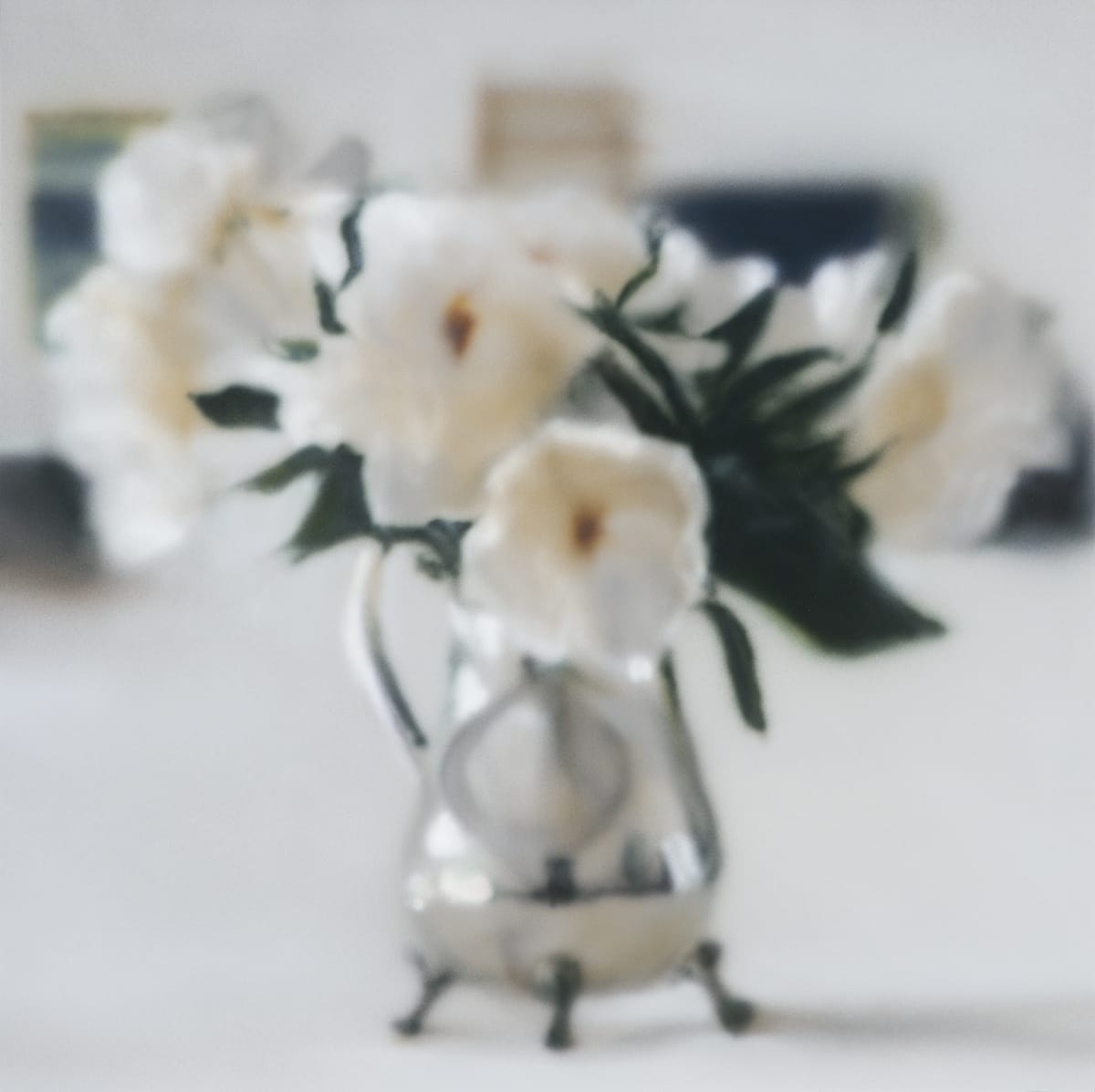 Peonies Blur (Small) Acrylic on panel 40.5 x 40.5 cm