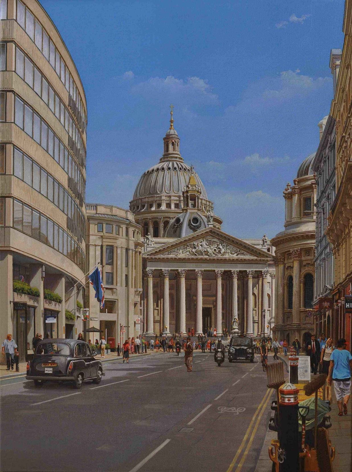Carl Laubin A Different Perspective, Proposals for a new Cathedral and Baptistry by Sir Christopher Wren and Nicholas Hawksmoor Respectively (unbuilt) oil on canvas 60 x 45 cm